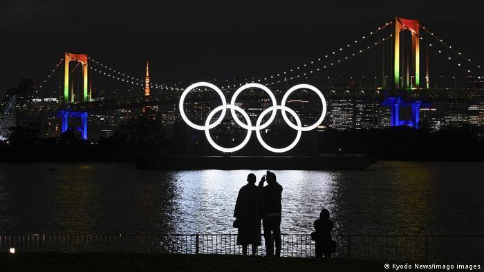 Lambang cincin olimpiade di Toyko kembali diinstal pada 1 Desember 2020.