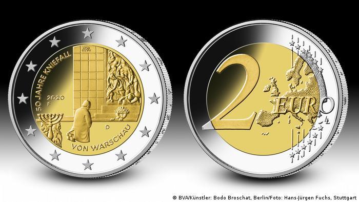 2 Euro Gedenkmünze 2020 Willy Brandt