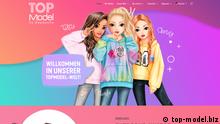 The website of TOPModel showing three top models posing