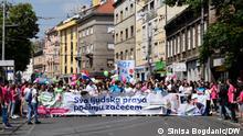 Proteste gegen Abtreibung in Zagreb, Kroatien, 2018