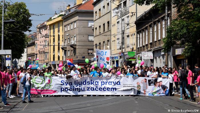 Marsz dla życia w Zagrzebiu (2018)