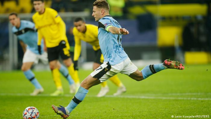 Ciro Immobile scored against his old club, Borussia Dortmund, in the group stage