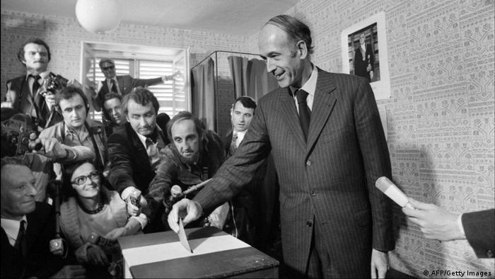 Früherer französischer Präsident Giscard d'Estaing | 1974