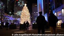 USA Weihnachtsbaum am Rockefeller Center in New York