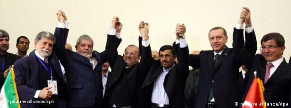 No Flash Erdogan Lula da Silva und Ahmadinedschad in Teheran