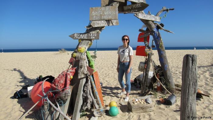 Patricia Paule: Durch Corona bekam ich Schub, den ich brauchte. Foto, als Reisen noch unbeschwert war: Patricia am Am Cap de Santa Maria, Portugal im Mai 2019