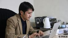 Zaki Daryabi, Chefredakteur der afghanischen Zeitung ETLAATROZ. Er und seine Zeitung haben 'Transparency international anti-corruption award' erhalten. Copyright: Privat