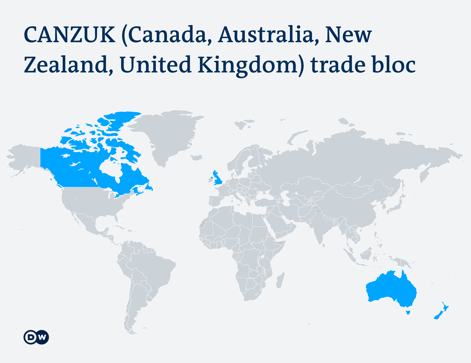 Map of the proposed CANZUK countries