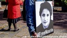 Niederlande Den Haag | Protest Amnesty International | Freiheit für Nasrin Sotudeh, Anwältin Iran