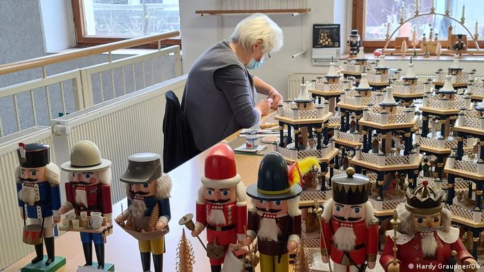 Array of Seiffen nutcrackers