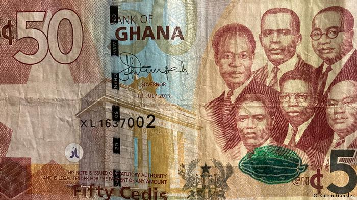 Portraits on a 50 Cedi bill