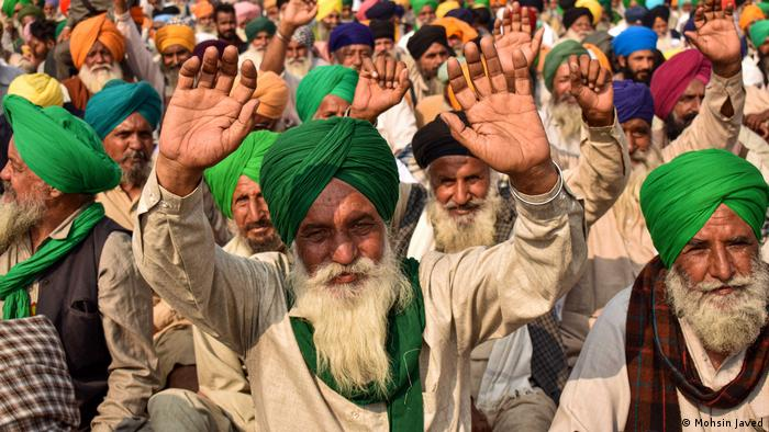 Indien Demonstration gegen Landwirtschaftgesetze