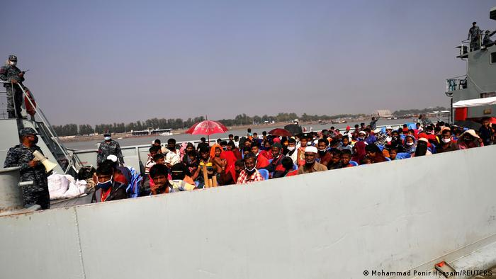 Bangladesch Umsiedlung von Rohingya