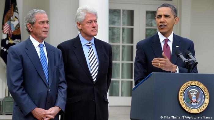 USA Ex-Präsidenten Clinton und Bush sammeln Spenden für Haiti