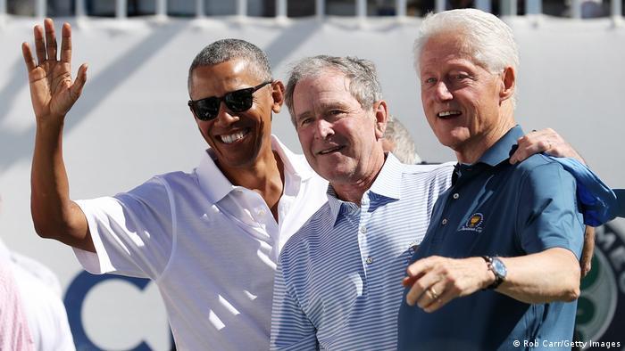Колишні президенти США на церемонії
