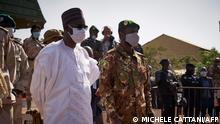 Premierminister Moctar Ouane und Vizepräsident Assimi Goita in Bamako