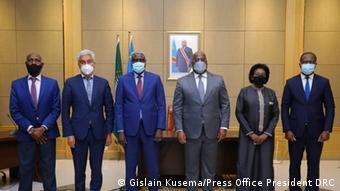 Kongo Kinshasa Vorsitzenden der Kommission der Afrikanischen Union, Moussa Faki Mahamat, an den Präsidenten des Kongo