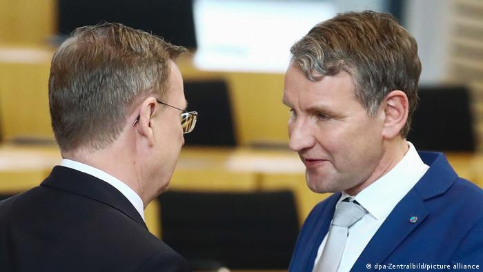 Bodo Ramelow (left) und Björn Höcke (right)