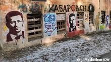 05.12.2020 Menschen in Chabarowsk demonstrieren am 5.12 in Unterstützung von Ex-Gouverneur des Regions Sergej Furgal