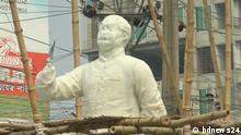 Bangladesch | Vandalismus von Statue von Bangabandhu Sheikh Mujibur Rahman