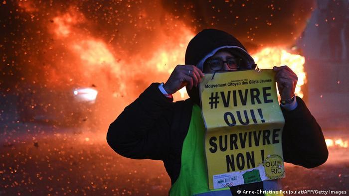 yellow vest protestor, Paris, France