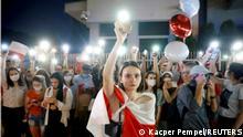 Warschau Botschaft Belarus Solidaritätsmarsch