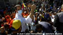 Venezuela Parlamentswahlen Wahlkampf Juan Guaido