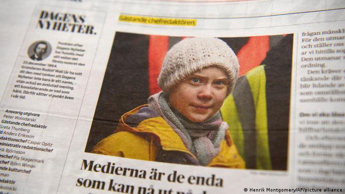 Greta Thunberg as guest editor for Dagens Nyhete daily