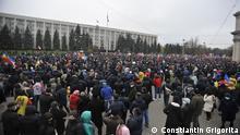 *** Bitte nur in Zusammenhang mit der Berichterstattung verwenden *** Heutige Proteste in Chisinau. via Dana Scherle