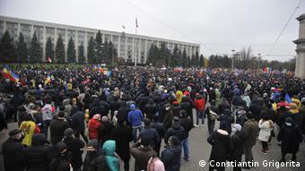 Акция протеста в Кишиневе против правительства 6 декабря 2020 года