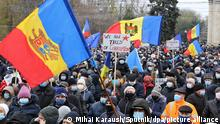 6409343 06.12.2020 People attend a rally against legislation that would limit the powers of the newly elected pro-European president Maia Sandu in Chisinau, Moldova. Moldovan lawmakers passed a bill on Thursday reducing presidential powers despite more than 5,000 people rallying in support of the country's newly elected pro-European leader. Maia Sandu is due to take office in late December as leader of the ex-Soviet republic after winning a surprise victory over pro-Russian incumbent Igor Dodon last month. Mihai Karaush / Sputnik