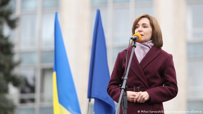 Moldavien Chisinau | Proteste: Maia Sandu