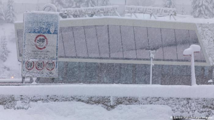Massive snowfall at the Brenner Pass