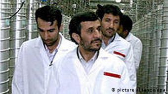 Президент Ирана Ахмадинежад в Натанце