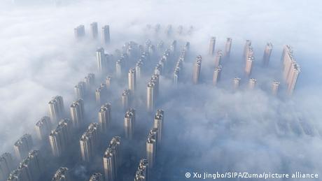Eine Stadt im Smog