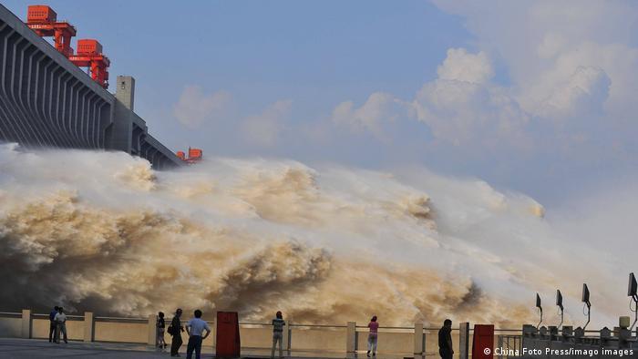 China Drei Schluchten Damm Wasserablass