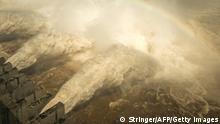 China Drei Schluchten Staudamm Wasserablass