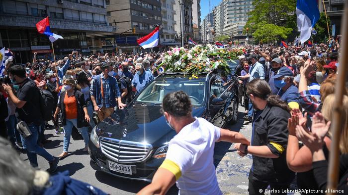 Uruguay Tabare Vazquez Trauerprozession