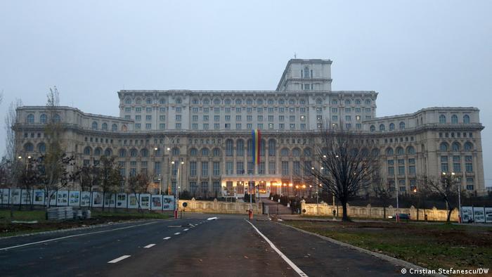 Rumänien Parlamentswahlen Bukarest Parlament Victoria-Palast