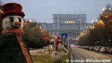 Bukarest, dem 6. Dezember 2020 Das Parlament Palast in Bukarest, Rum#nien. . Die Rumäner haben Sonntag, dem 6. Dezember 2020, für ein neues Parlament gewählt.