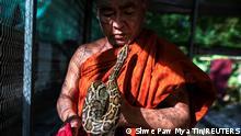 Myanmar Kloster Mönche Phyton Rettungsstation