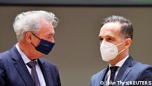 Belgien EU-Außenministertreffen in Brüssel Heiko Maas und Jean Asselborn