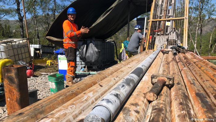 Firma Norge Mining, probna bušenja