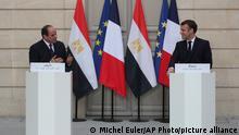 Frankreich PK Emmanuel Macron und Abdel Fattah al-Sisi