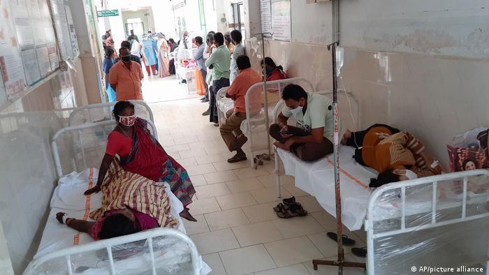 Rumah sakit pemerintah di Eluru, Andhra Pradesh, India