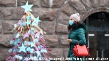 Ukraine Kiew Weihnachten Dekoration