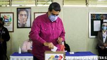 Venezuela | Parlamentswahlen Stimmabgabe Nicolas Maduro