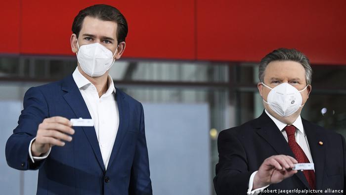 Austrian Chancellor Kurz and Vienna Mayor Michael Ludwig