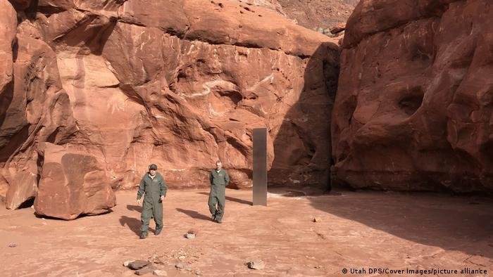 USA Utah   Entdeckung Metall-Monolith