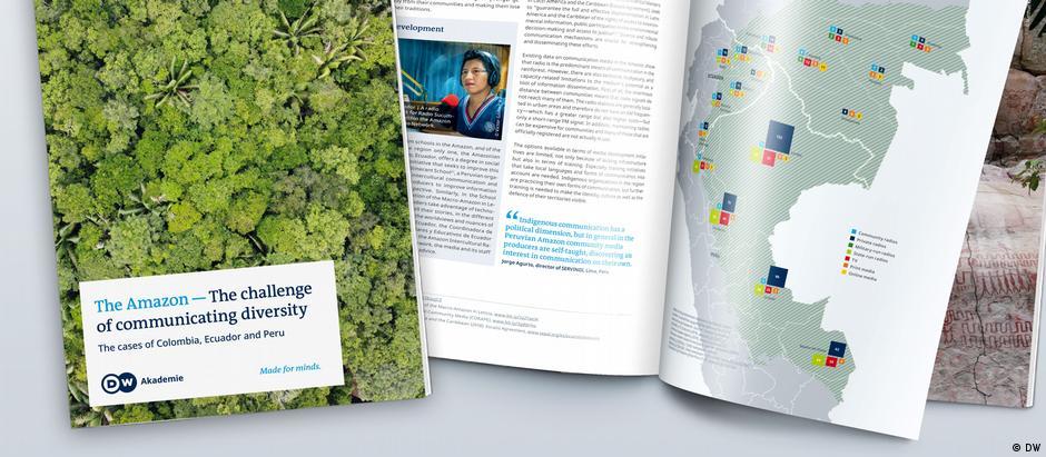 DW Akademie Mockup / Publication 'The Amazon - The challenge of communicating diversity'